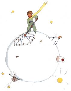 Der kleine Prinz bringt seinen Planeten in Ordnung