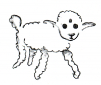 Der kleine Prinz – Zeichnung vom 1. Schaf